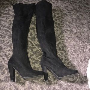 Thigh high Steve Madden suede boots